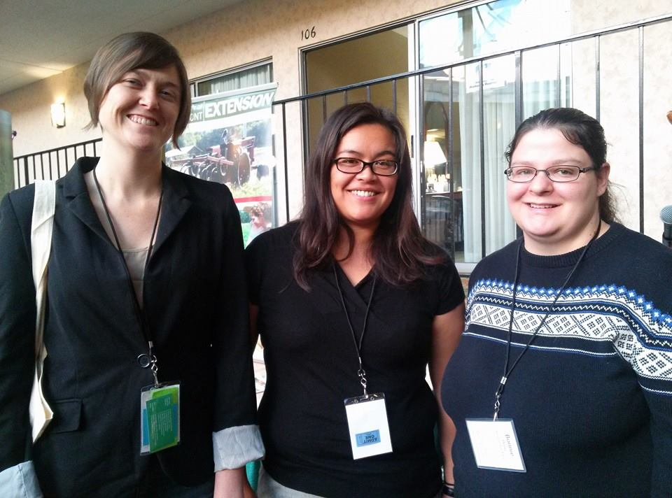 Left to right: Linda Wells and Emily Marquez, Pesticide Action Network; Bonnie Wirtz, farmer